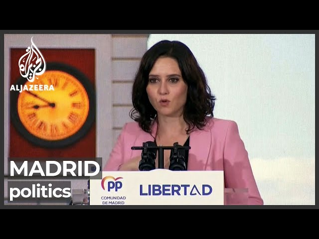 Spain's Madrid holds key regional election