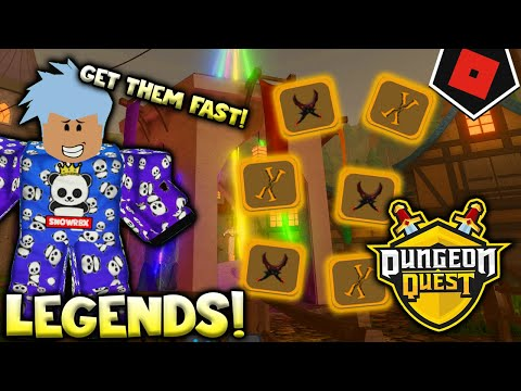 HOW TO GET LEGENDARY FAST ON DUNGEON QUEST 2020 | Roblox Dungeon Quest