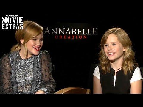 Annabelle: Creation 2017 Talitha Bateman & Lulu Wilson talk about the movie