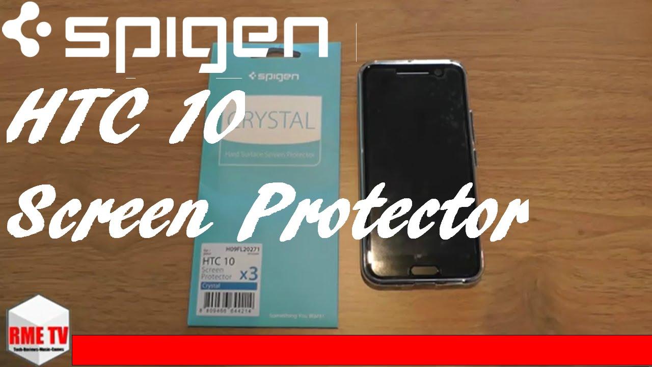 online store d7e30 b9294 Spigen HTC 10 Screen Protector Install & Review #HTC10 #Spigen
