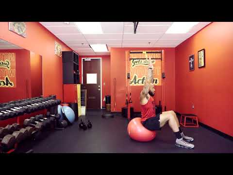 Exercise Ball Sit Ups