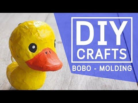 DIY How to make a paper mache duck clown cartoon - crafts step by step
