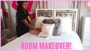 DECORATING MY ROOM! NEW FURNITURE + ROOM TRANSFORMATION!