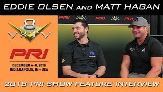 NHRA Top Fuel Funny Car Driver Matt Hagan and Mopar Motorsports Eddie Olsen 2018 PRI Show