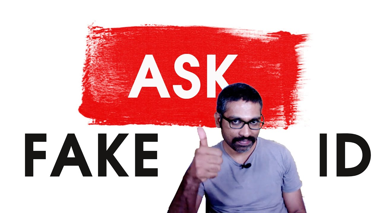 Ask Fake Id | Aravind answers your questions | Fake Id #Fakeid #AravindAnbalagan