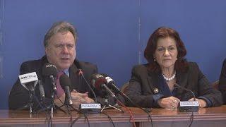 Συνέντευξη τύπου  αναπλ.υπουργού Εργασίας Θεανώς Φωτίου για  αστέγους της Αθήνας