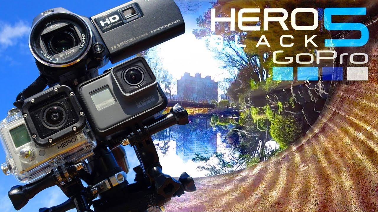 自然撮り比較 GoPro HERO 5, HERO 3, SONY HandyCam. Comparison! 並列撮影で 画質 ,手ブレ補正,映像を徹底比較インプレッション