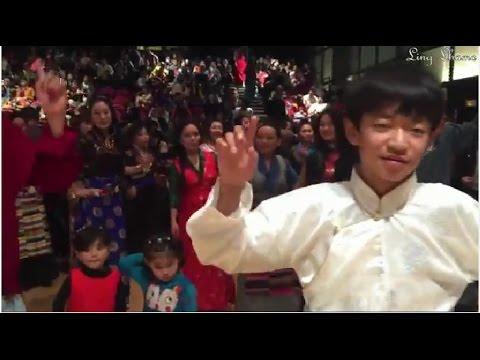 Tibetan popular dances for Losar 2015 in Paris