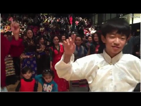 Tibetan popular dances for Losar 2015 in Paris