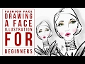How to Draw a Face for Beginners Fashion Illustration Tutorial on Sketches Pro App