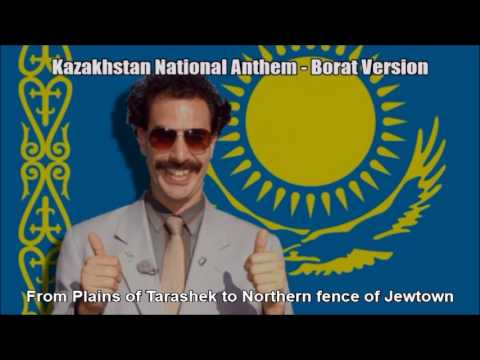Kazakhstan National Anthem - Borat Version (Nightcore Style With Lyrics!)