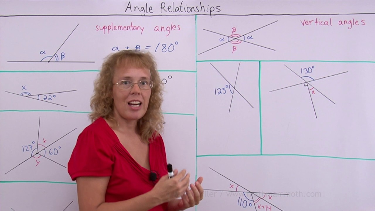 Angle relationships and unknown angle problems - YouTube [ 720 x 1280 Pixel ]
