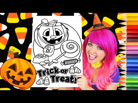 Coloring Halloween Candy Trick-Or-Treat Coloring Page Prismacolor Colored Pencil | KiMMi THE CLOWN