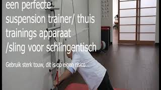 zelf maken:  suspension trainer/therapie sling