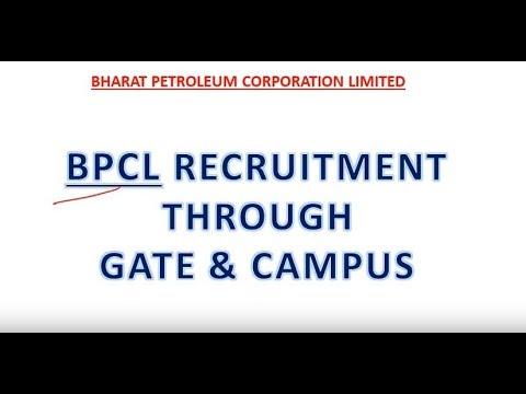BPCL Recruitment through GATE and Campus