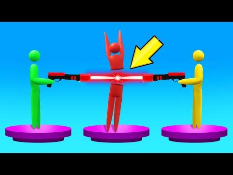 ONE LASER vs. 2 ENEMIES = BRUTAL! (Super Smash)