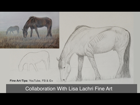 How to Draw and Paint a Horse Step by Step - Collab With Lachri Fine Art