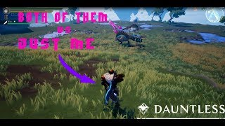 TWO BEHEMOTHS VS ONLY ME | Dauntless Gameplay