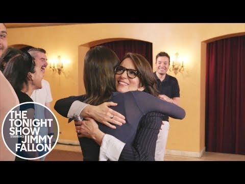 Tina Fey Surprises  While They Thank Her