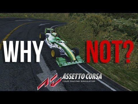An idiot drives a F1 car in Akina | Assetto Corsa