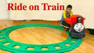 Thomas and Friends Trains, One Ride On,  Disney Cars Toys Lightning McQueen