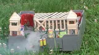 Toy Army Man Base Destroyed By Fireworks