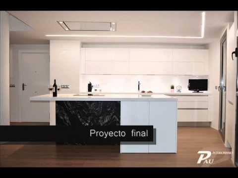 Proyecto cocina pasillo youtube for Cocinas abiertas al pasillo