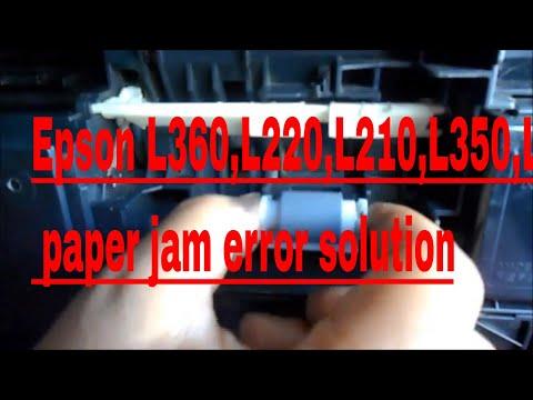 Epson L360    L220    L210    L350    L110    paper jam error solution    Bengali   
