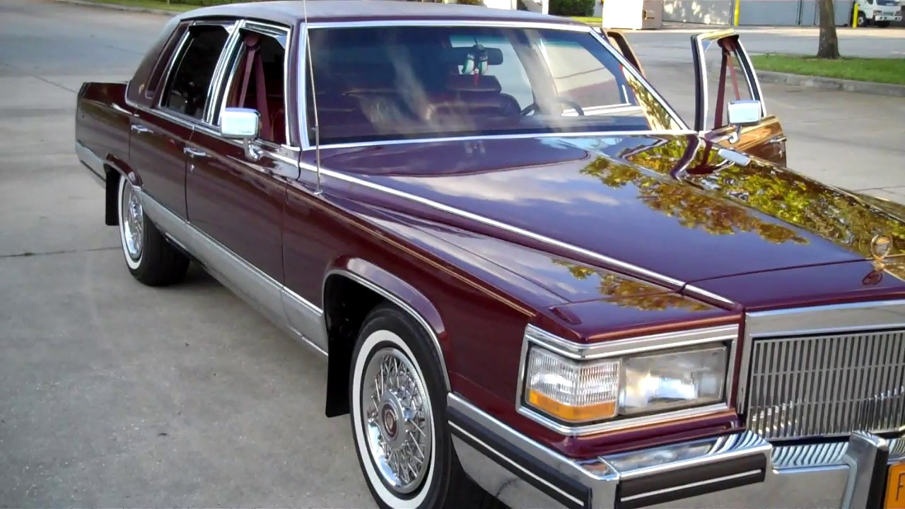 91 Cadillac Brougham - YouTube