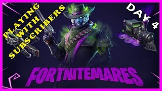 "FORTNITEMARES EVENT LIVE: DAY 4 - ""JACK GOURDON"" SKIN is BACK in FORTNITE // Playing With SUBS"