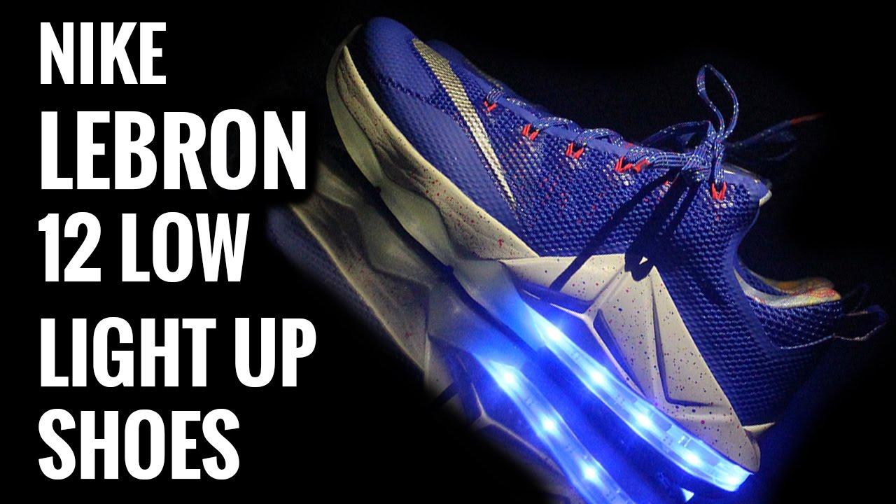 wholesale dealer e6c40 7c573 Light Up Nikes  Lebron 12 Low Royal Blue!