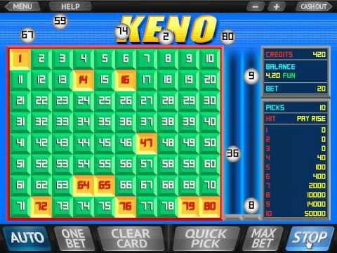 Play Superball Keno online, free