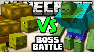 TURTLE BOSS VS MUTANT ZOMBIE - Minecraft Batalha de Mobs - Mutant Creatures & Better Dungeons Mods