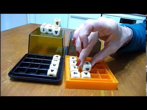 ASMR dados con letras // letters //cubes // dice // No whispering