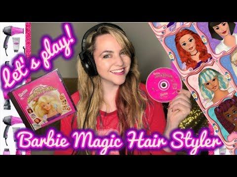 Let's Play Barbie Magic Hair Styler (1997) – 90's Throwback Gaming!