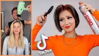 Trying TikTok Hair Hacks on my hair