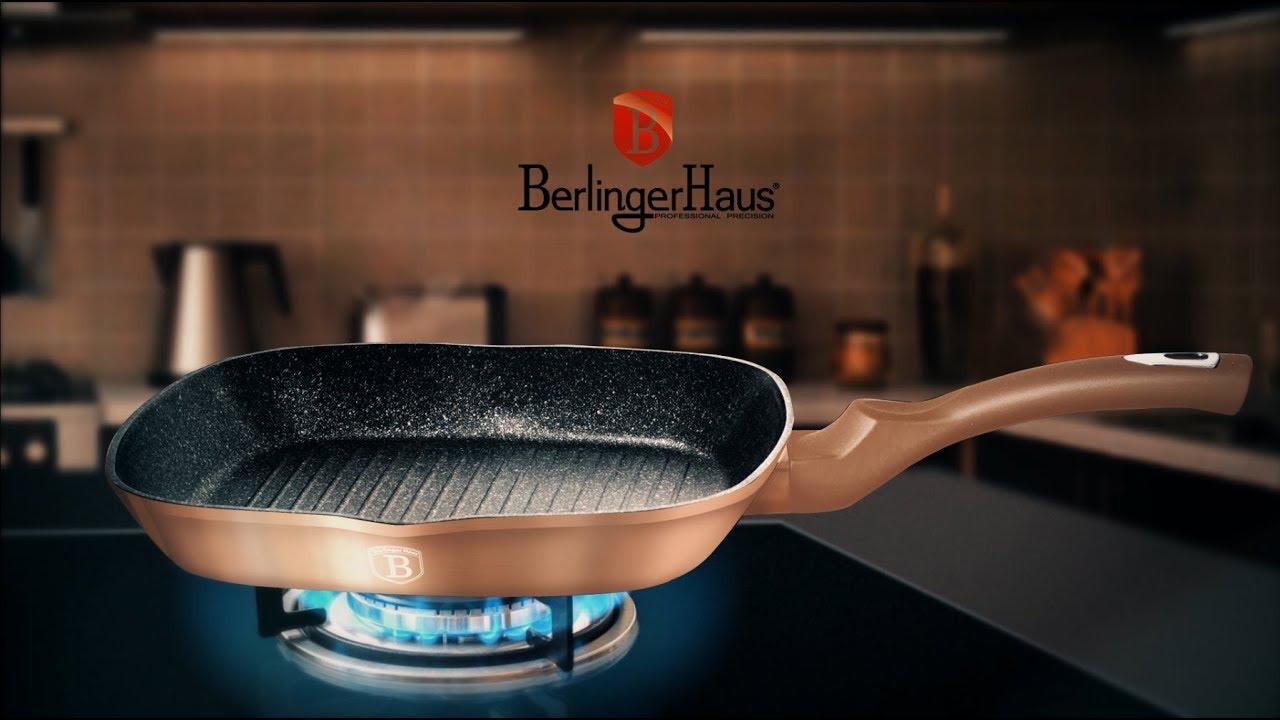 Berlinger Haus Metallic Line Rosegold Edition Grill Pan Presentation