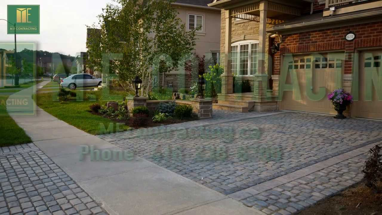 Interlock driveway with softscape and flagstone front steps in interlock driveway with softscape and flagstone front steps in toronto solutioingenieria Choice Image