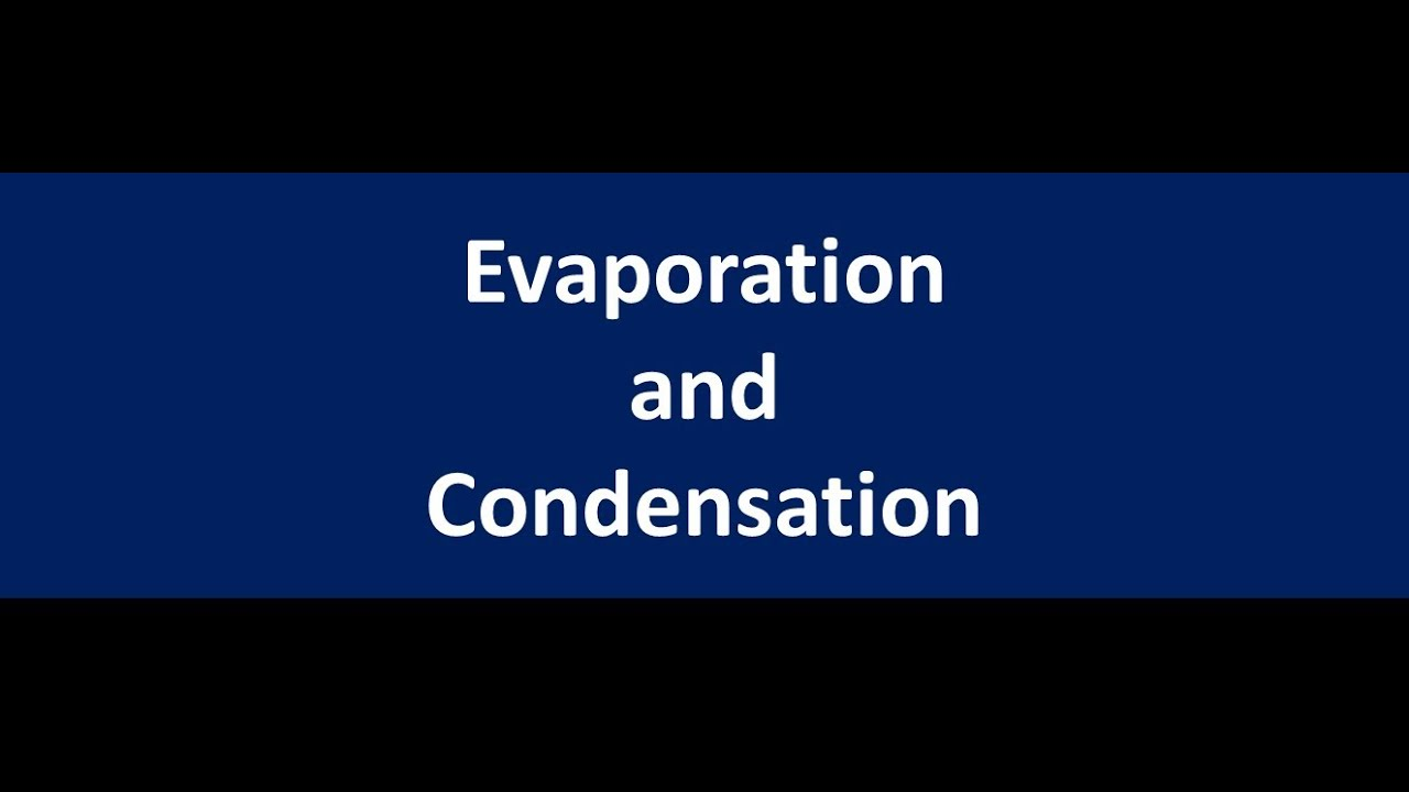 Evaporation and Condensation lesson -Chemistry for kids ...