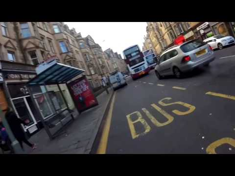 Triskating in Edinburgh - Marchmont,  long flow