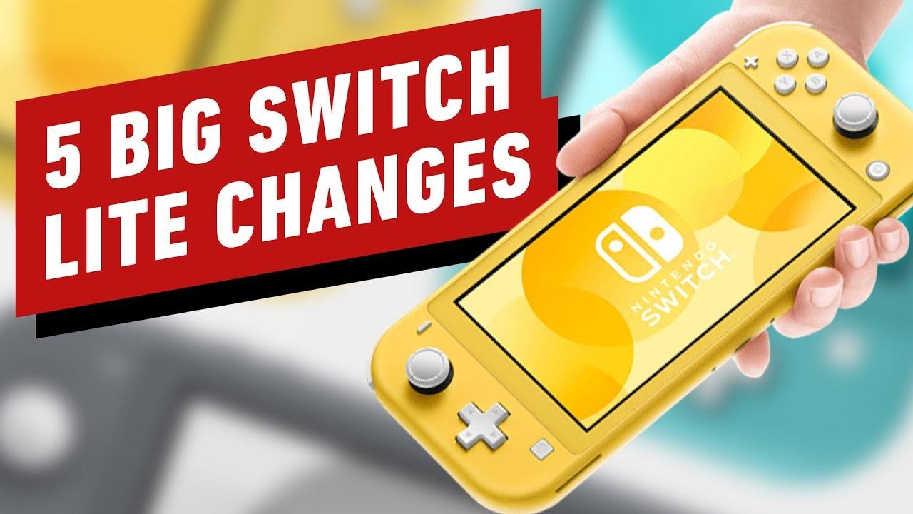 5 Nintendo Switch Lite-Änderungen, die Sie kennen müssen + video