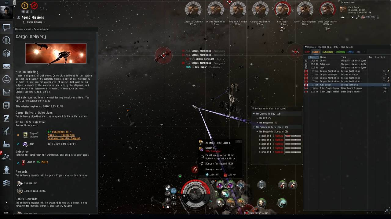 Eve Online Level 4 Cargo Delivery With Paladin Marauder