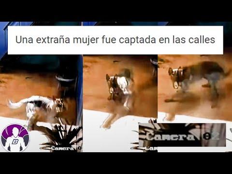 Una extraña mujer fue captada en las calles -  3 vídeos aterradores