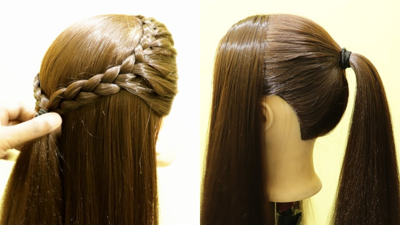 Simple Front French Braid Hairstyle  Doluble side french Braid   #FrenchBraid #Hairstyle #New