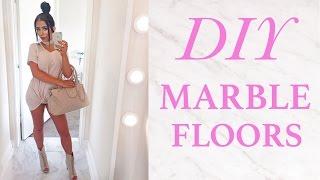 ♡ DIY MARBLE FLOORING ♡