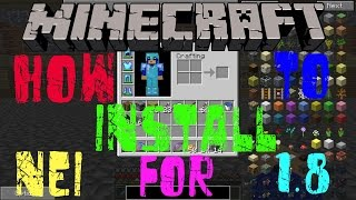 How To INSTALL Not Enough Items(NEI) For 1.8+ (With Forge) [Minecraft Mod Tutorial]