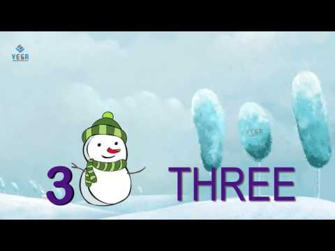 Snowman Teach Numbers 1 to 10  Counting Song, 123 Nursery Rhyme