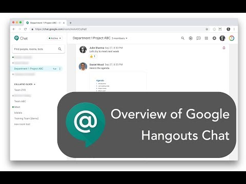 Google Hangouts @Chat Overview
