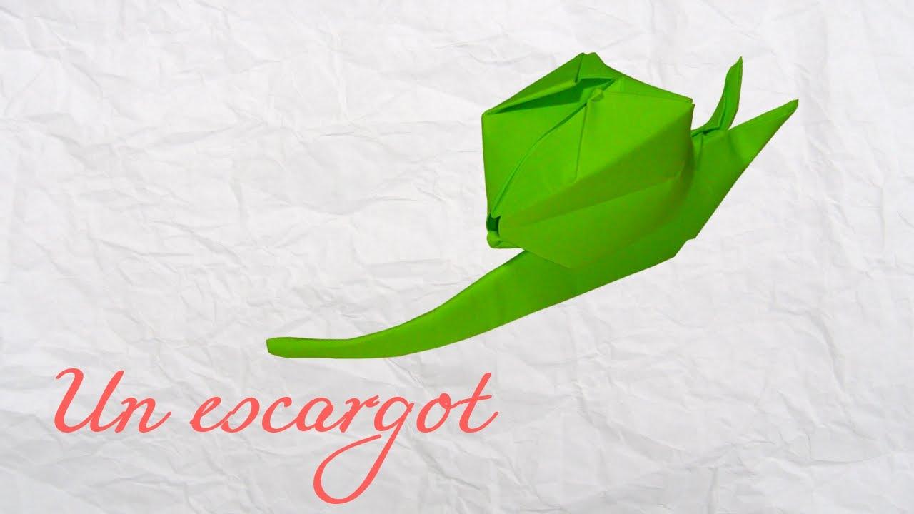 Origami Un Escargot à Gonfler Youtube