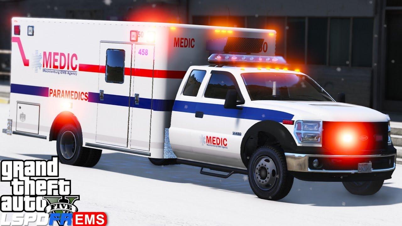 GTA 5 LSPDFR EMS Mod #5 | Play As A Paramedic Mod | Mecklenburg EMS  Responding To Shots Fired